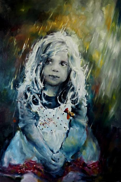 Eyes full of rain