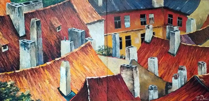 Diptych - Střechy
