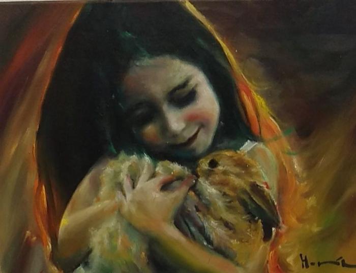 Dívka s králíčkem