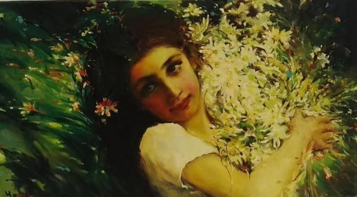 Dívka s květy