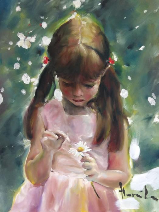 Dívka s kytičkou