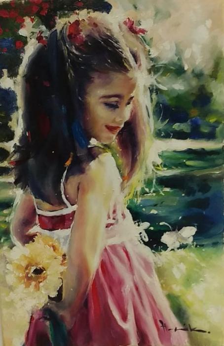Dívka s kytičkou II