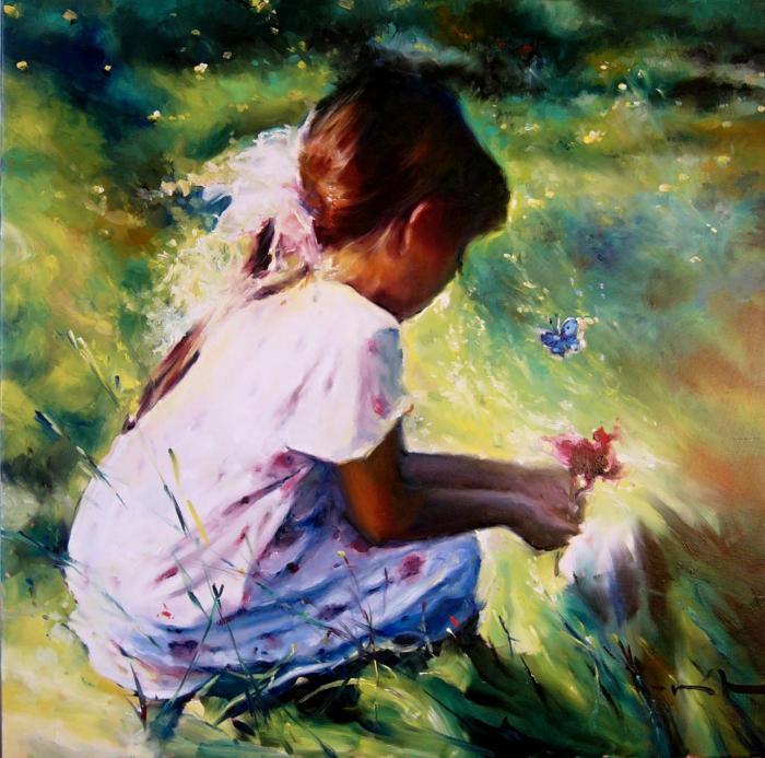 Modrý motýlek